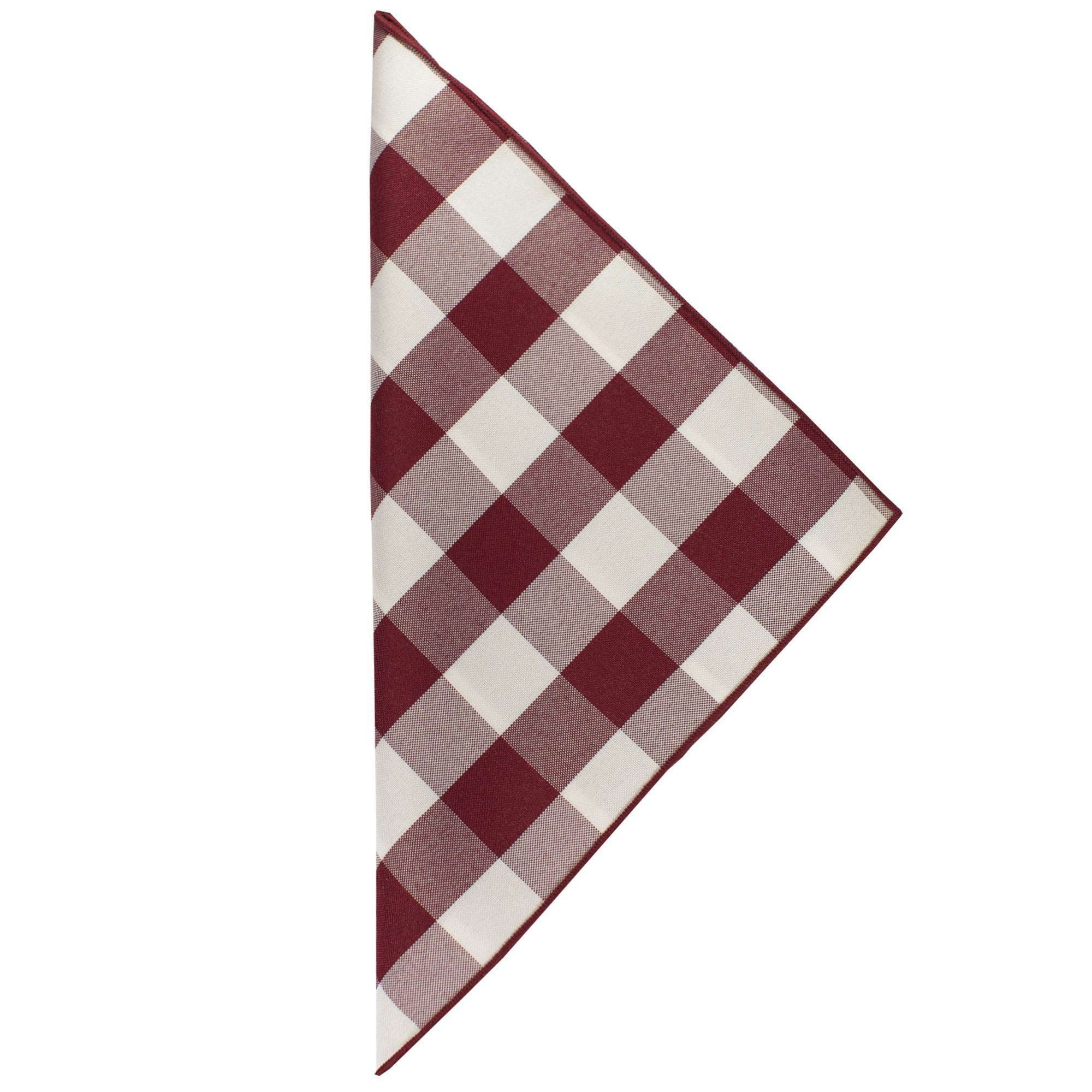 Ultimate Textile -10 Dozen- 10 x 10-Inch Polyester Checkered Cloth Cocktail Napkins, Burgundy and White