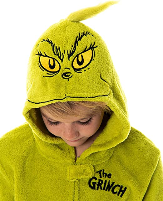 NEW Dr Seuss Grinch Hooded Sweatshirt Boys Boutique Christmas Outfit