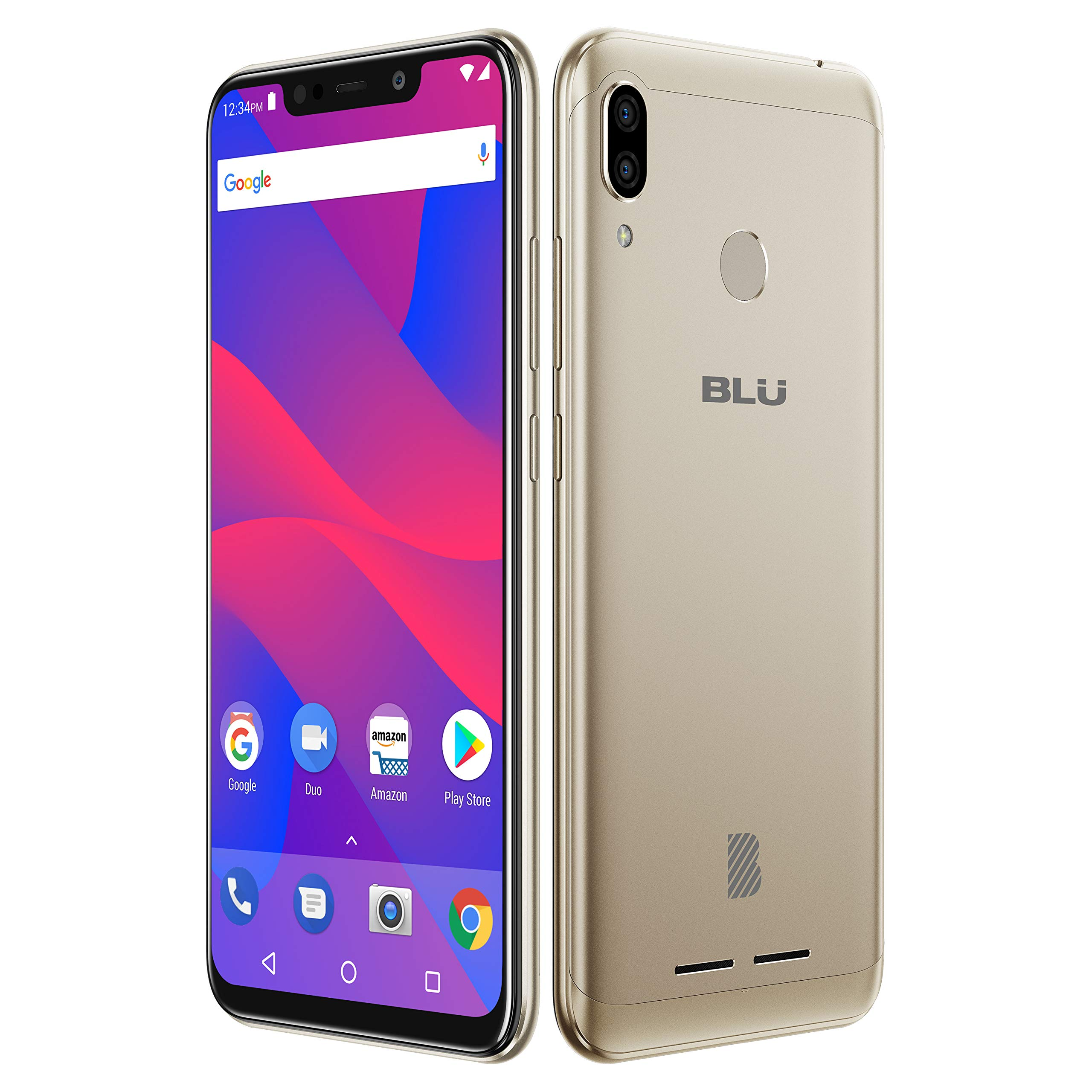 "BLU VIVO XL4 – 6.2"" HD Display Smartphone, 32GB+3GB RAM –Gold by BLU (Image #4)"