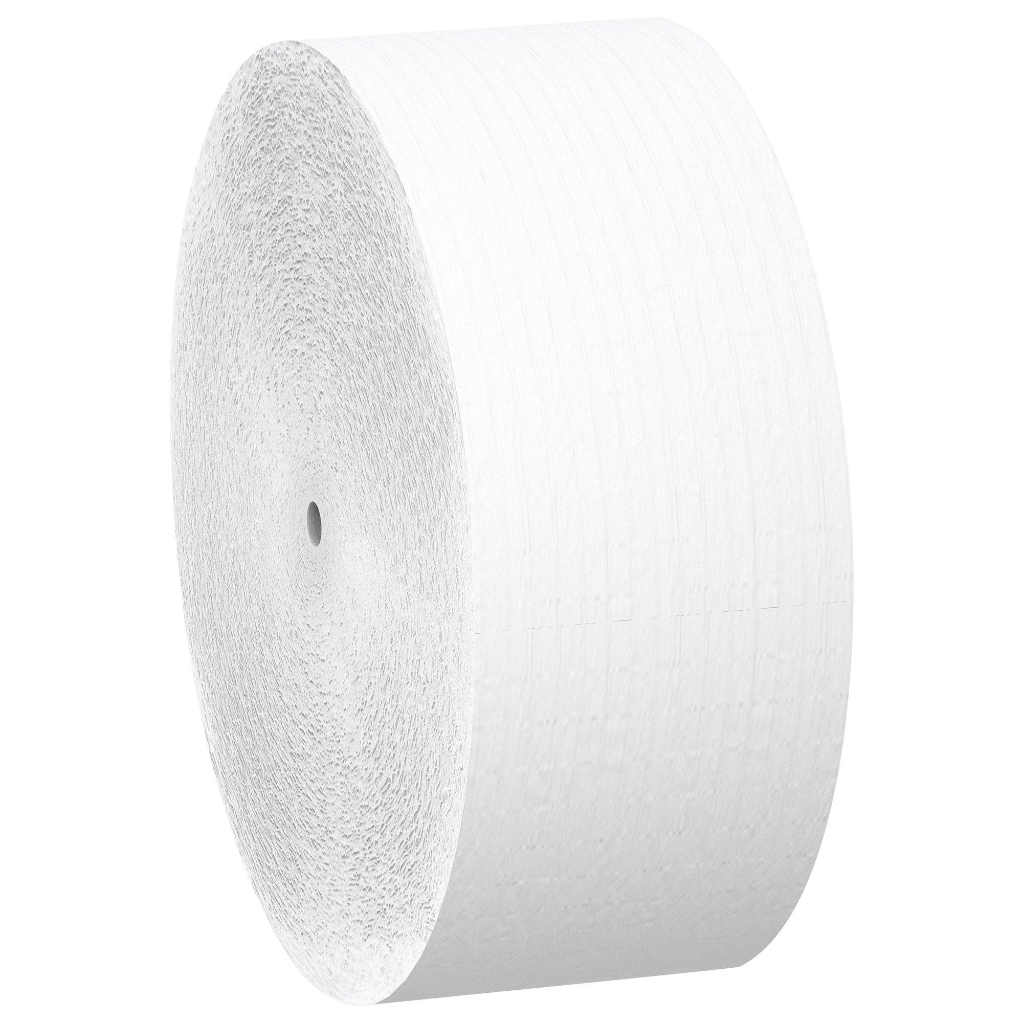 Scott Essential Jumbo Roll JR. Coreless Toilet Paper (07006), 2-PLY, White, 12 Rolls/Case, 1,150' / Roll by Scott