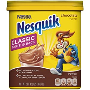 NesQuik Chocolate Powder Drink Mix, 18.7 Ounce