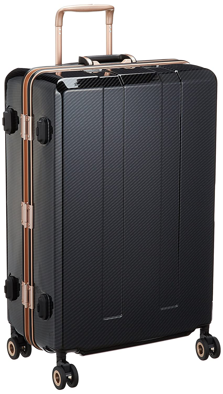 [レジェンドウォーカー] スーツケース 重量チェッカー搭載保証付 94L 70cm 5.3kg 6703N-70 B075KG1C6Dブラックカーボン