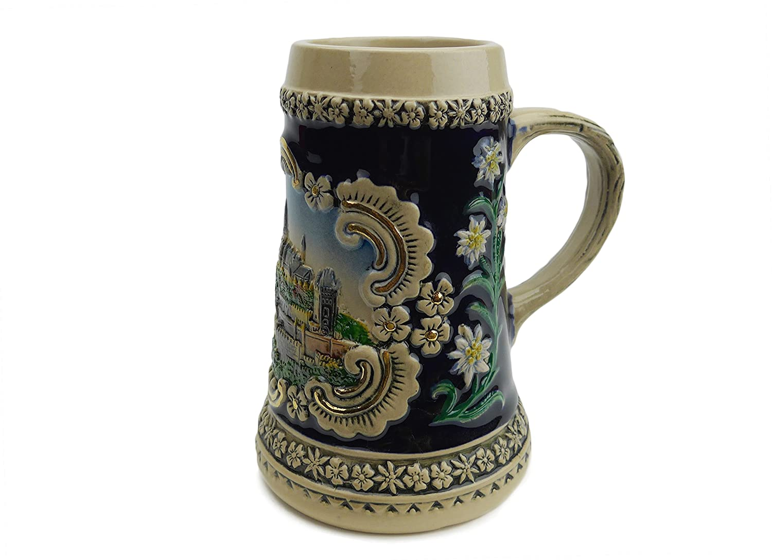 Essence of Europe Gifts Bavarian Castle Engraved Ceramic Beer Stein no/Lid Essence of Europe Gifts E.H.G S4216