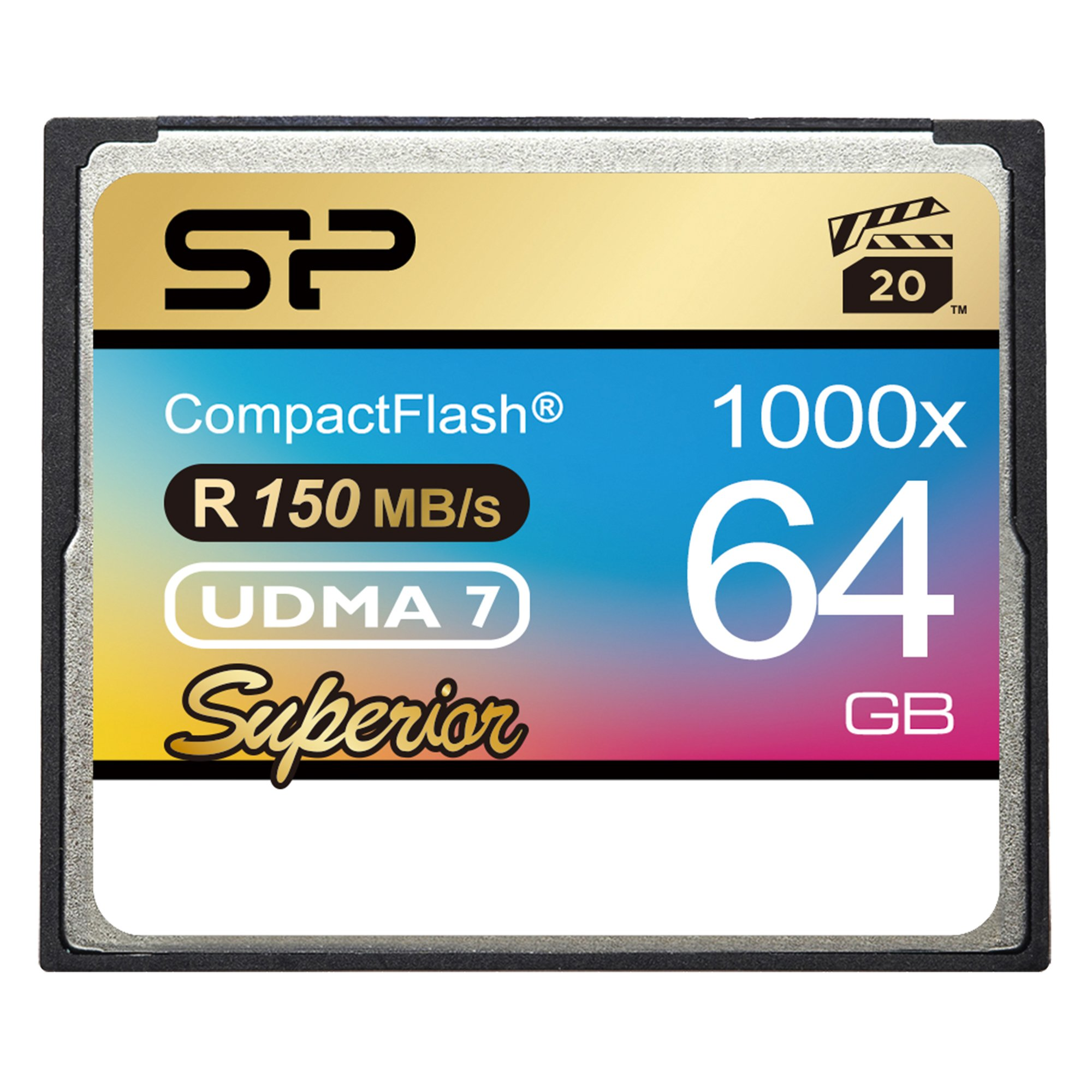 Silicon Power 64GB Hi Speed 1000x Compact Flash Card (SP064GBCFC1K0V10)