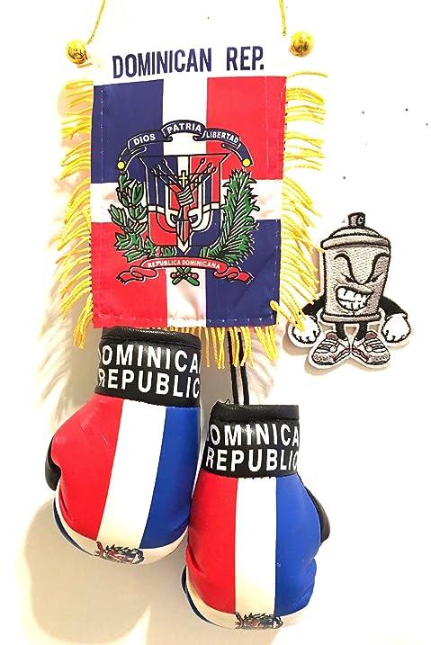 Amazon Dominican Republic Mini Automobile Rearview Mirror Flag