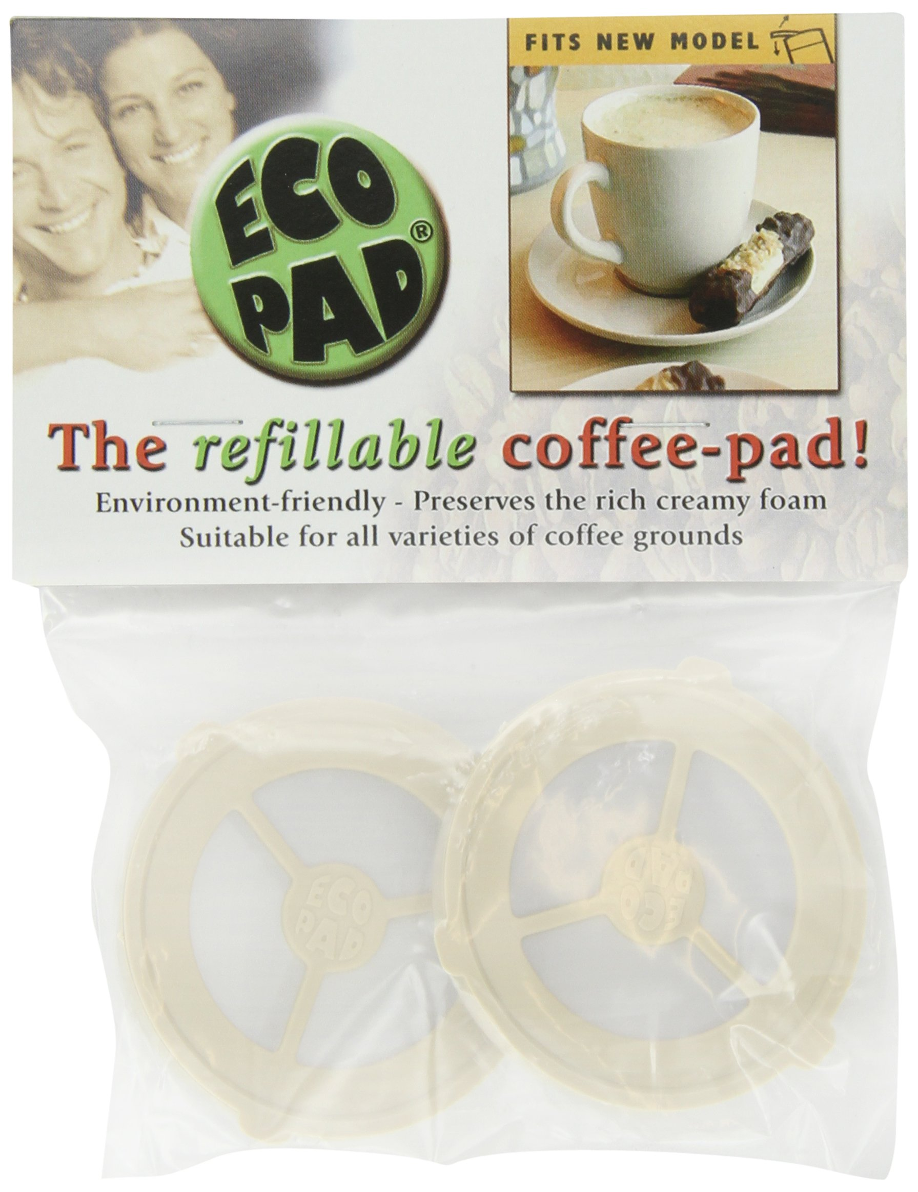 Ecopad, the Refillable Coffee Filter for the Classic Senseo (pack of 2) by CoffeeDuck