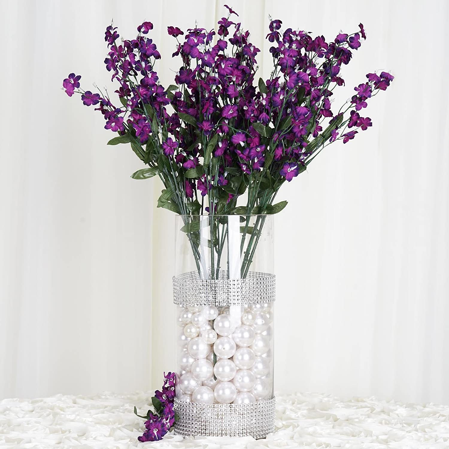 Amazon efavormart 12 bushes baby breath artificial filler amazon efavormart 12 bushes baby breath artificial filler flowers for diy wedding bouquets centerpieces party home decoration purple home kitchen izmirmasajfo