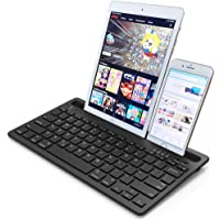 Wireless Bluetooth Multi-Device Keyboard for Phone, Tablet & Computer. Rechargeable, Slim & Compact Travel Keyboard…