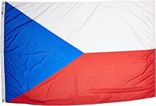 product image for Annin Flagmakers Model 192049 Czech Republic Flag Nylon SolarGuard NYL-Glo, 4x6 ft, 100% Made in USA to Official United Nations Design Specifications