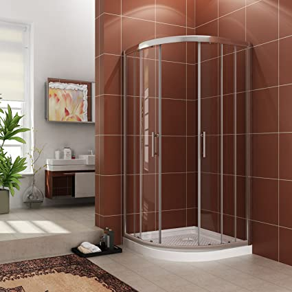 SUNNY SHOWER Neo Round Corner Sliding Shower Doors 38u0026quot;D X 38u0026quot;W