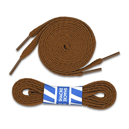 74939278d47d Brown Flat Shoelaces 5 16 shoe laces For Sneakers and Converse - 2 Pack