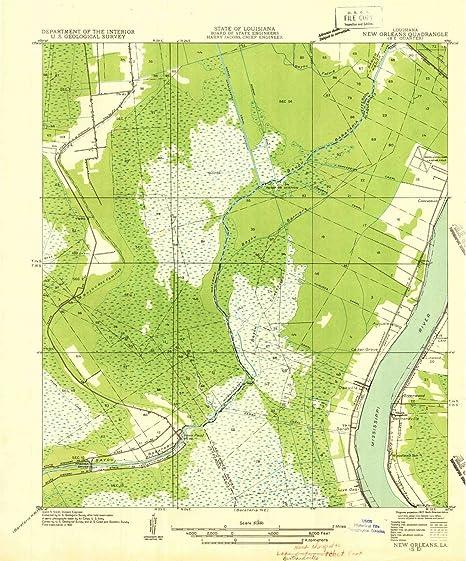 Amazon Com Yellowmaps New Orleans Se La Topo Map 1 31680 Scale