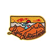 Asilda Store Life of Adventure Outdoor Iron-on Embroidered Patch