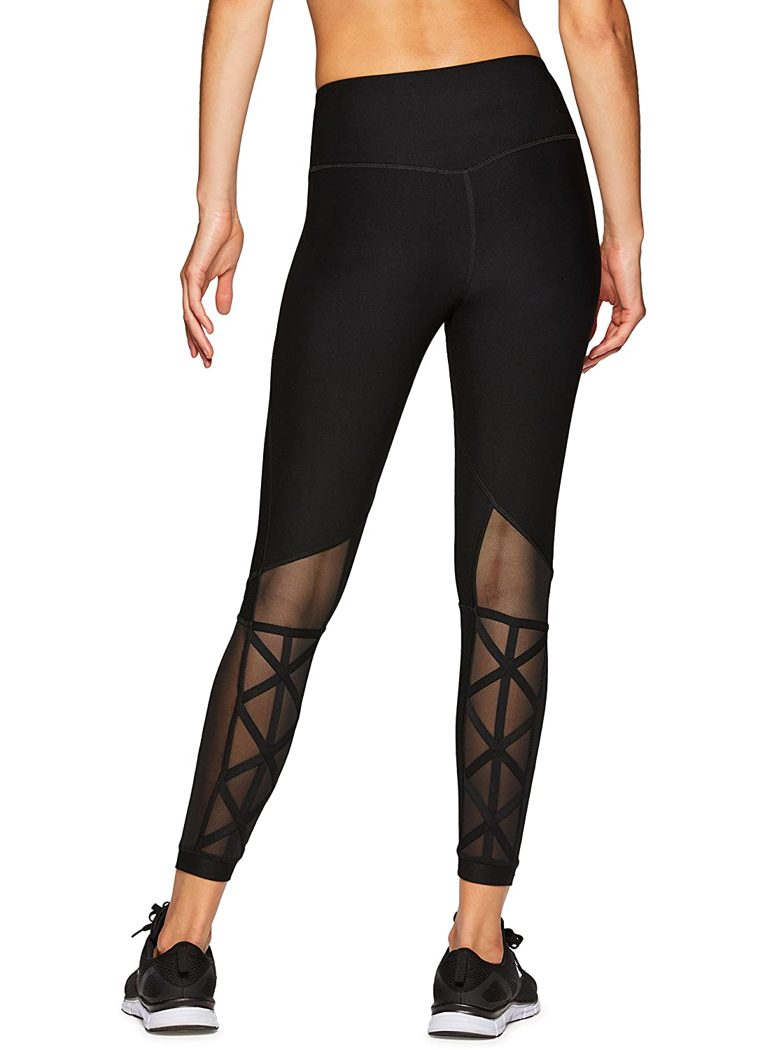 Blackout RBX Active Women's Workout Yoga 7 8 Ankle Legging with Side Detail