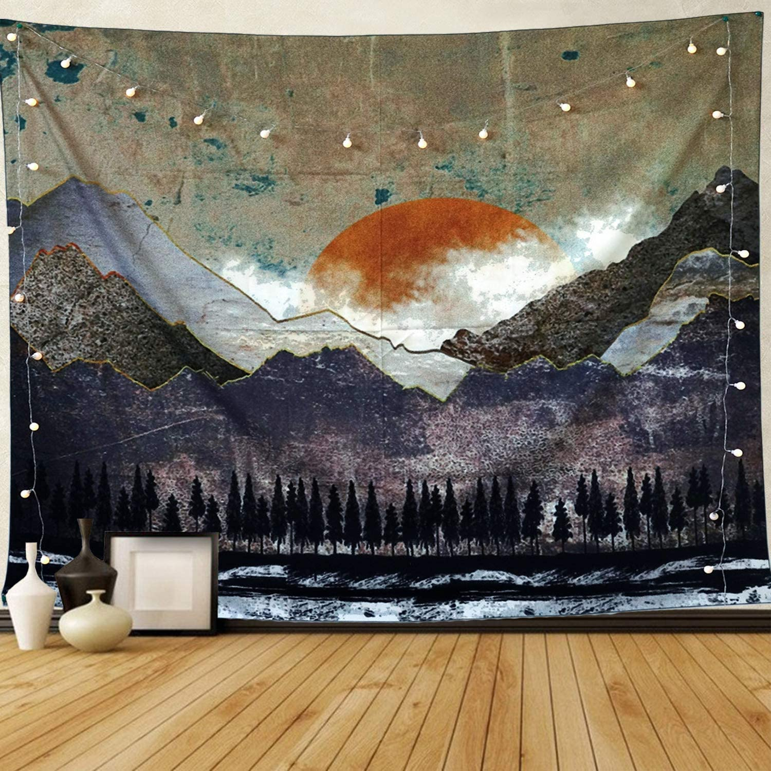 "Tapestry Misty Forest Tapestry Mountain Tapestry Nature Landscape Tapestry Japanese Style, Home Decor, W80""xL60"""