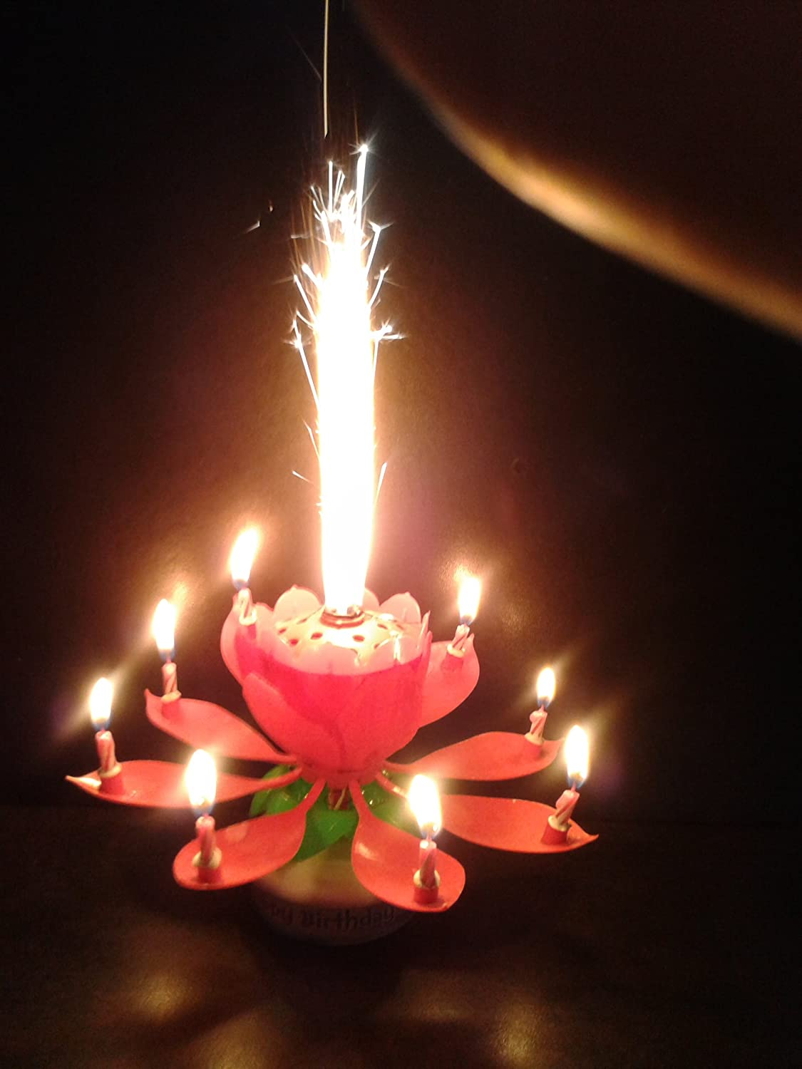 Musical Birthday Cake Candle Sparkler Fountain Flower