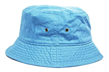 Amazon.com   Baby Blue Cotton Summer Bucket Fisherman Camping Hiking  Outdoor Bonnie Bush Hat Sun Cap   Baby a80f590d5a4
