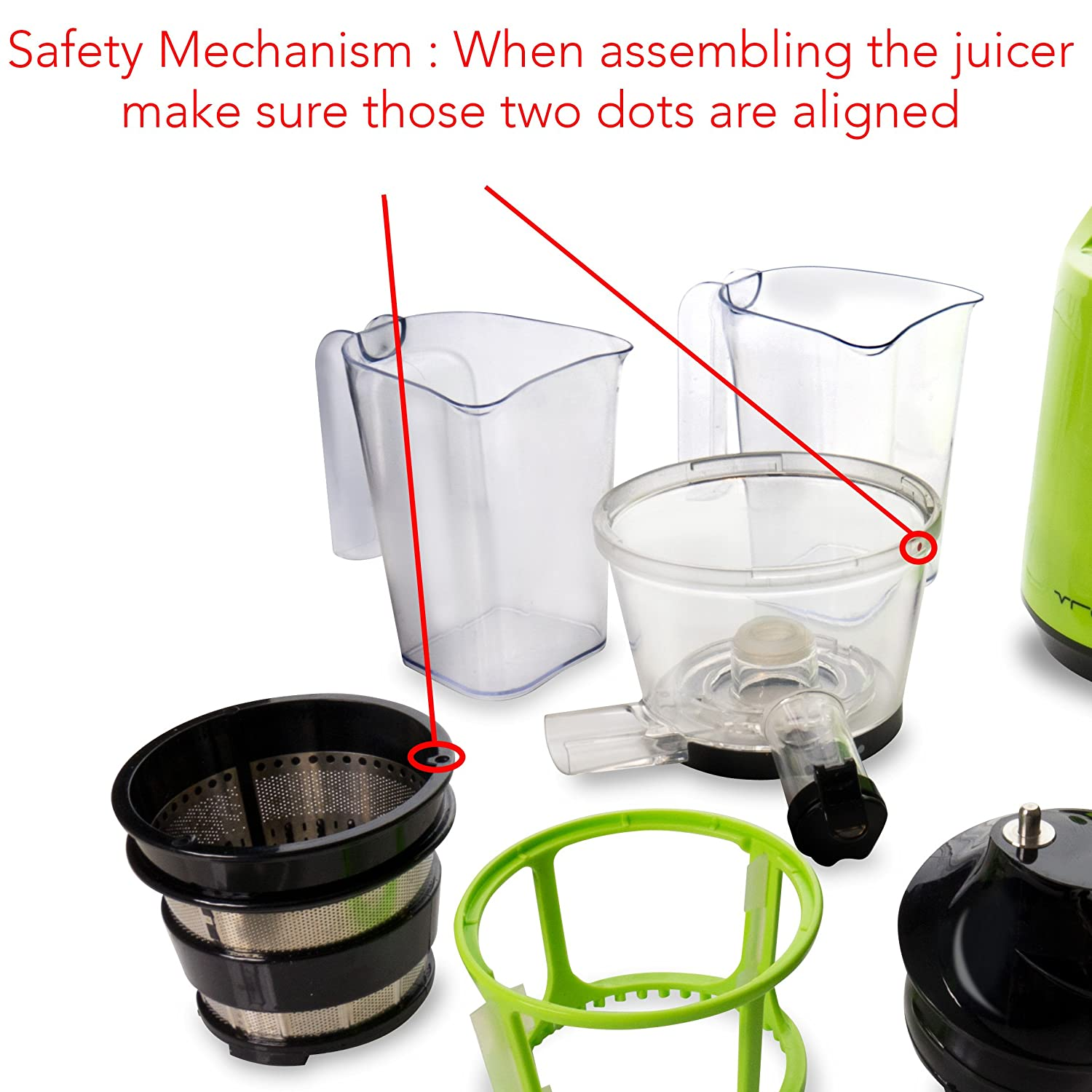 VREMI Slow Juicer (RED) – Live Clean & Green with Delicious ...