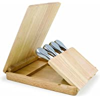 TOSCANA - a Picnic Time Brand Asiago Original Design Cheese Board with Cheese Tools