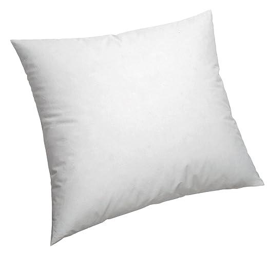 Pikolin Home - Cojín/Cuadrante, de fibra con funda 100% algodón, antiácaros, firmeza media, 50x50cm, Altura 16cm (Todas las medidas)