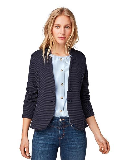 SET Sweatshirt Blazer Sweat Damen 36 blau Tom Tailor t shirt