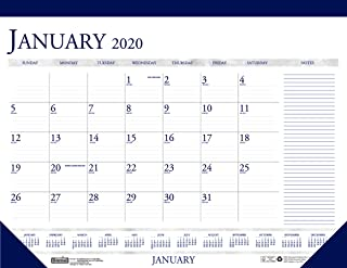 product image for House of Doolittle 2020 Monthly Desk Pad Calendar, Classic with Notes Section, 18.5 x 13 Inches, January - December (HOD1646-20)