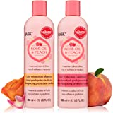 HASK ROSE OIL + PEACH Shampoo and Conditioner Set Color Protecting - Color safe, gluten-free, sulfate-free, paraben-free Allu