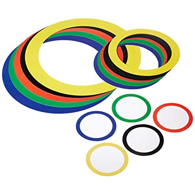 Sports Party Rings (asstd colors) Party Accessory (1 count) (15/Pkg): Toys & Games