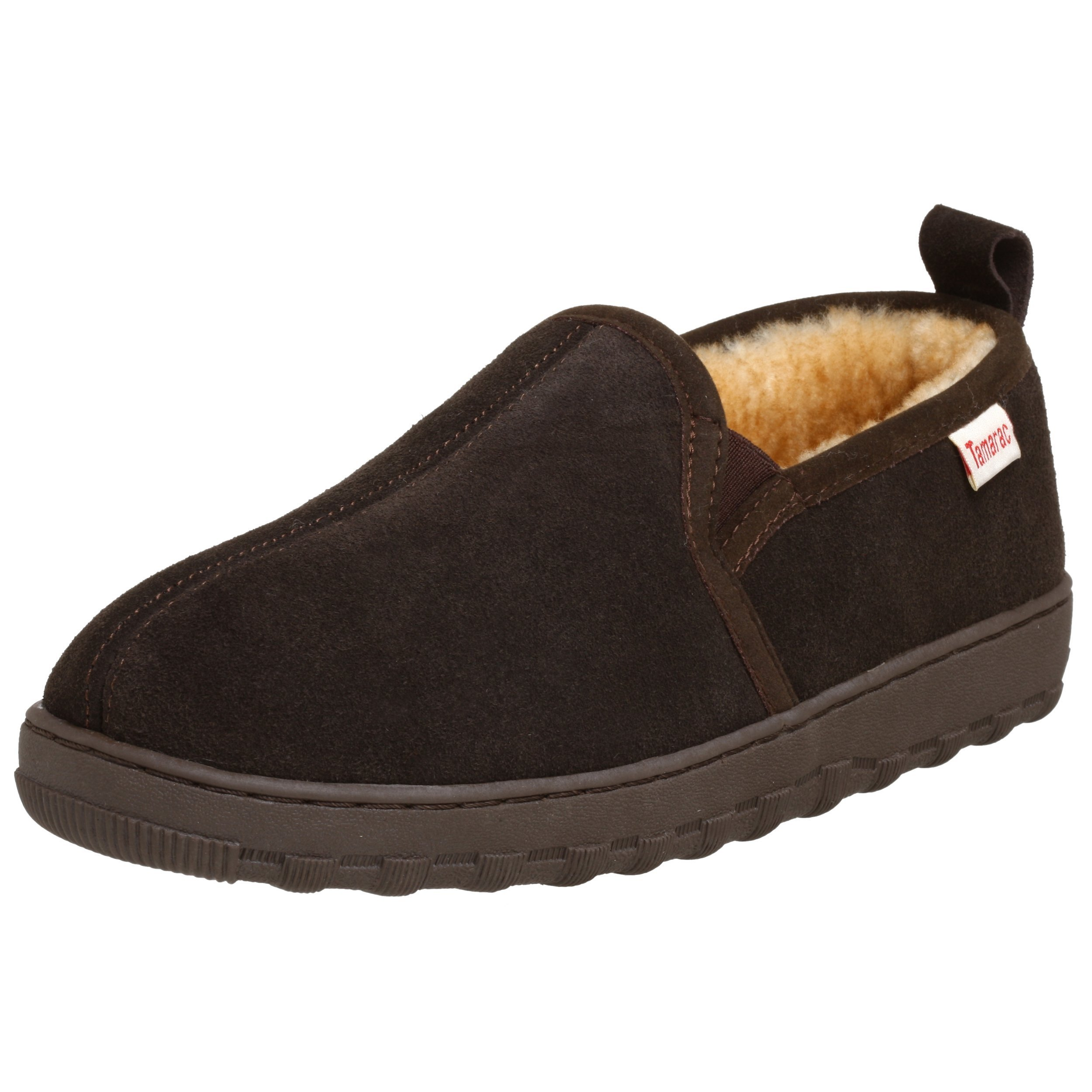 Tamarac by Slippers International Men's Cody Sheepskin Slipper,Rootbeer,9 M US