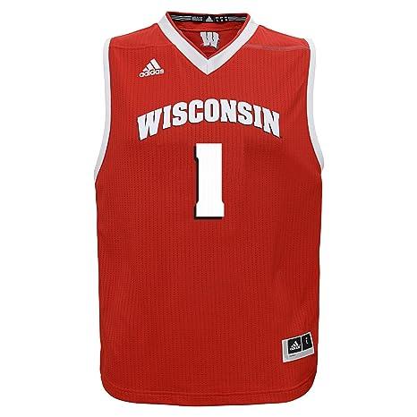 size 40 96fbb 7b263 Amazon.com : adidas NCAA Wisconsin Badgers Youth Boys ...