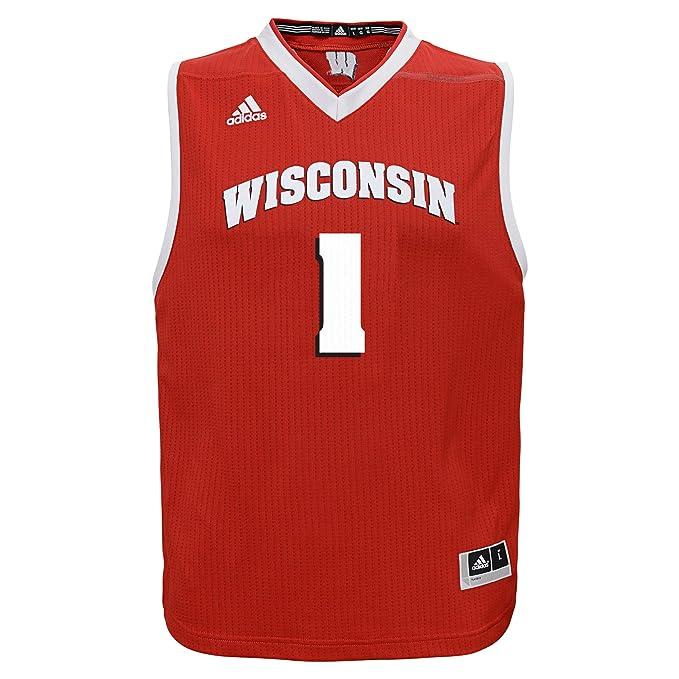 Amazon.com: adidas NCAA Wisconsin Badgers - Camiseta de ...
