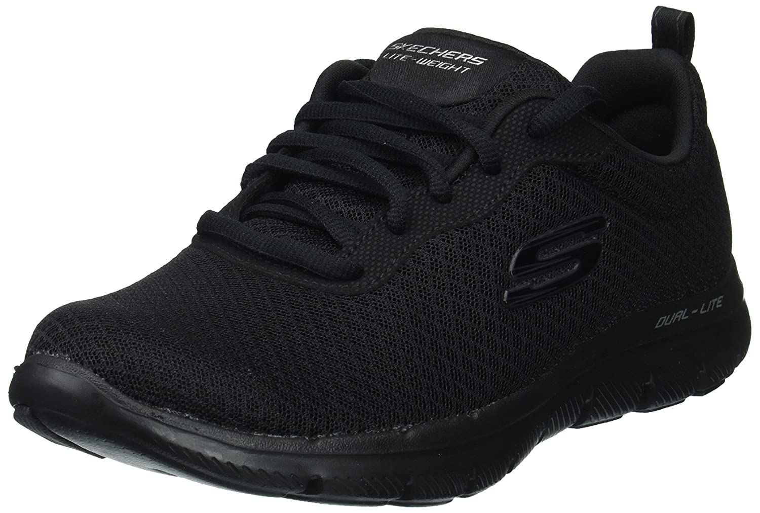 Skechers Women's Flex Appeal2.0-Newsmaker Sneaker B076HG3R2Q 10 W US|Black