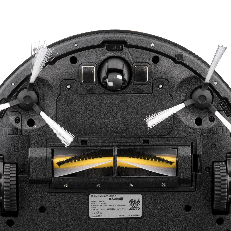 H. Koenig Swrc90 - Robot aspirador con tecnología Watermop, silencioso