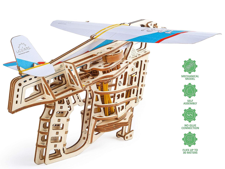 UGEARS Puzzle de Madera 3D - Iniciador de Vuelo Rompecabezas ...