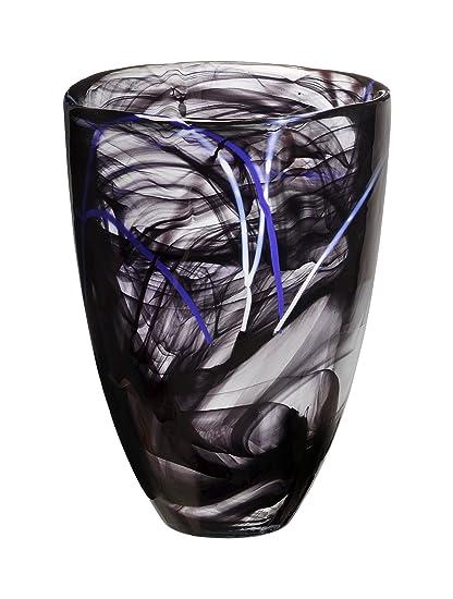 Amazon Kosta Boda Contrast Vase Black Home Kitchen