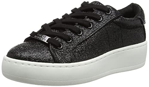 9c241d090d2 Steve Madden Women s Bertie-c Low-top Sneakers Black (Black Metallic) 7.5  UK  Buy Online at Low Prices in India - Amazon.in