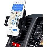 車載スマホホルダーZEELEC CH3 エアコン吹き出し口用 360度回転ワンタッチ iPhone Samsungなど対応でき(ブラック)