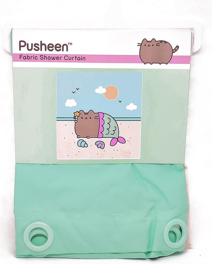 Cute New Pusheen Mermaid Kitty Cat Sunny Sandy Beach Plush Fleece Blanket Throw