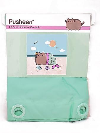Pusheen Mermaid Shower Curtain 100% Polyester 66 x 69 inches Machine Washable