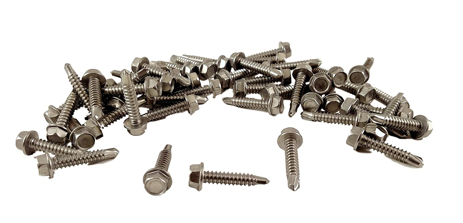 Pack of 100 3//8 Length Small Parts 0806RW Steel Thread Rolling Screw for Metal #8-32 Thread Size 3//8 Length Zinc Plated Hex Washer Head Pack of 100