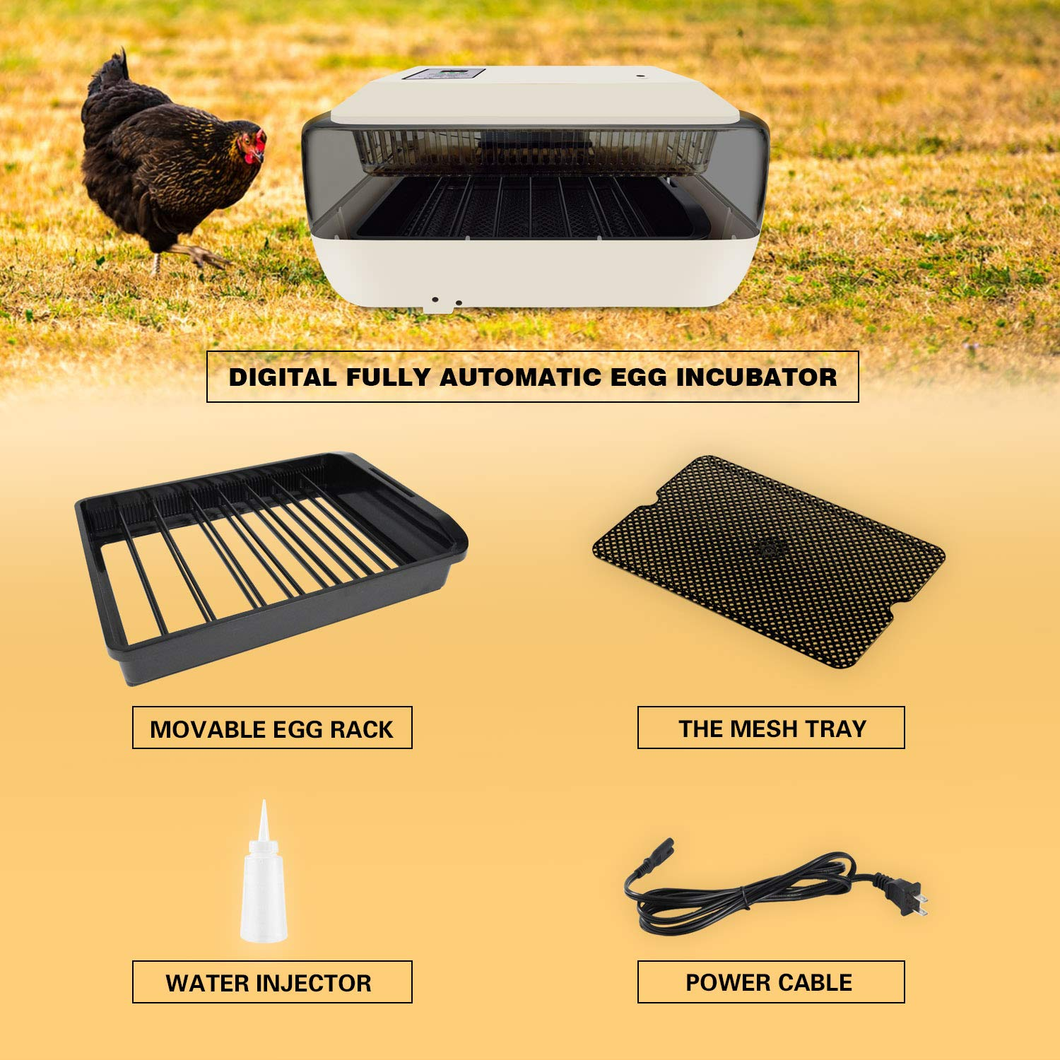 GOOD MOTHER Fully Automatic Egg Incubator 24-30 Eggs Incubators for Hatching Chickens Ducks Geese Birds Eggs Celsius