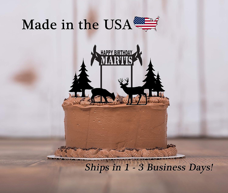 Prime Wildlife Birthday Cake Topper 5 Piece Set Happy Birthday Deer Funny Birthday Cards Online Benoljebrpdamsfinfo
