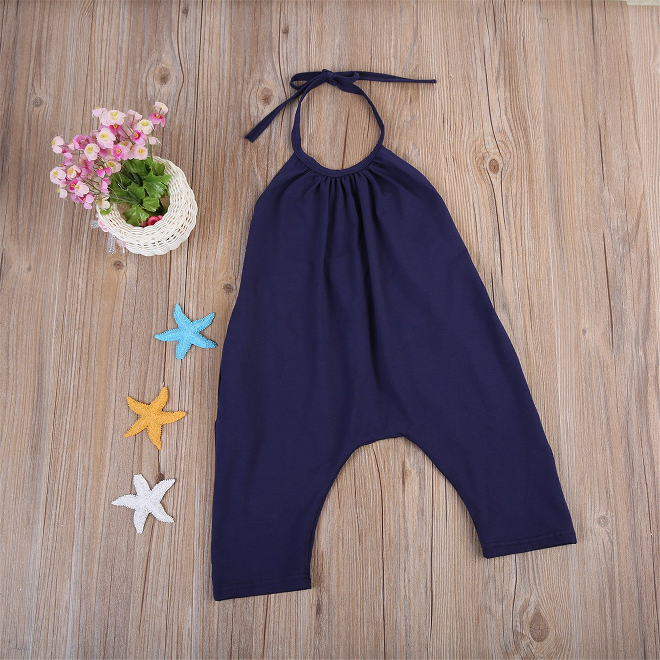 B Annie New Summer Kids Baby Girls Strap Cotton Romper Jumpsuit Harem Trousers Summer Clothes