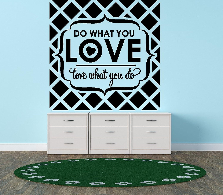 Design with Vinyl Black Star 879 Do What You Love Love What You Do Quote Design Bedroom Bathroom Wall Decal, 21-Inch x 20-Inch, Black by Design with Vinyl B00I9QJ9LI