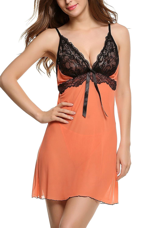 Avidlove Womens Pajama Lingerie Lace Underwear Mesh Babydolls Set #AL001530