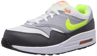 Nike Air MAX 1 (PS) Calcetines, Niños, Blanco (White/Volt ...