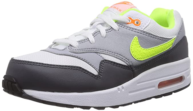 Nike Air MAX 1 (PS) Calcetines, Niños, Blanco (White/Volt ...