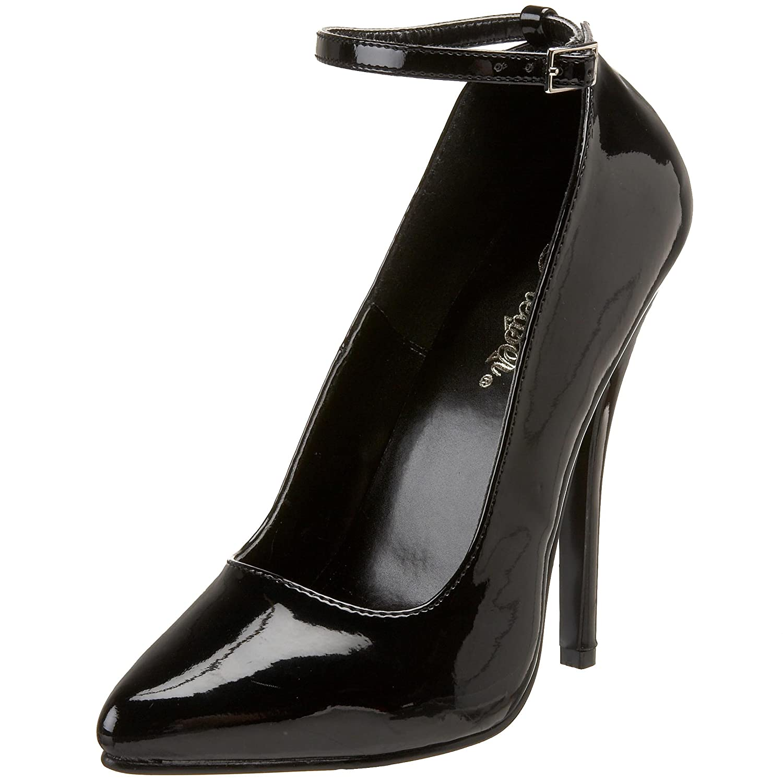 Pleaser Dom431/B, Zapatos de Tacón para Mujer 46 EU (13 UK)|Negro (Black)