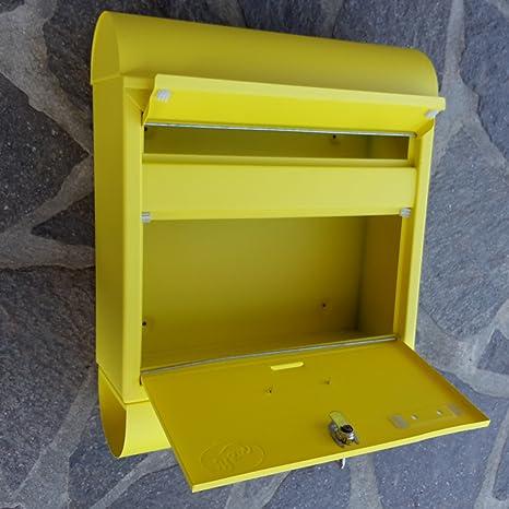 Briefkasten Postkasten mit Zeitungsrolle Wandmontage Runddach Neu T8
