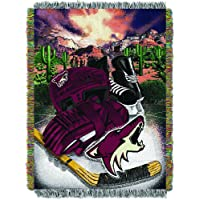 """Officially Licensed NHL Homefield Ice Advantage Woven Tapestry Throw Blanket, 48"""" x 60"""""""